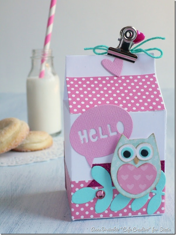 Milk box Sizzix - Big Shot Plus - Die Cutting - Packaging - Favors - Bomboniere - by cafecreativo (4)