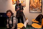 La luthier Donatella Salvato que expuso sus guitarras en la Exposición.