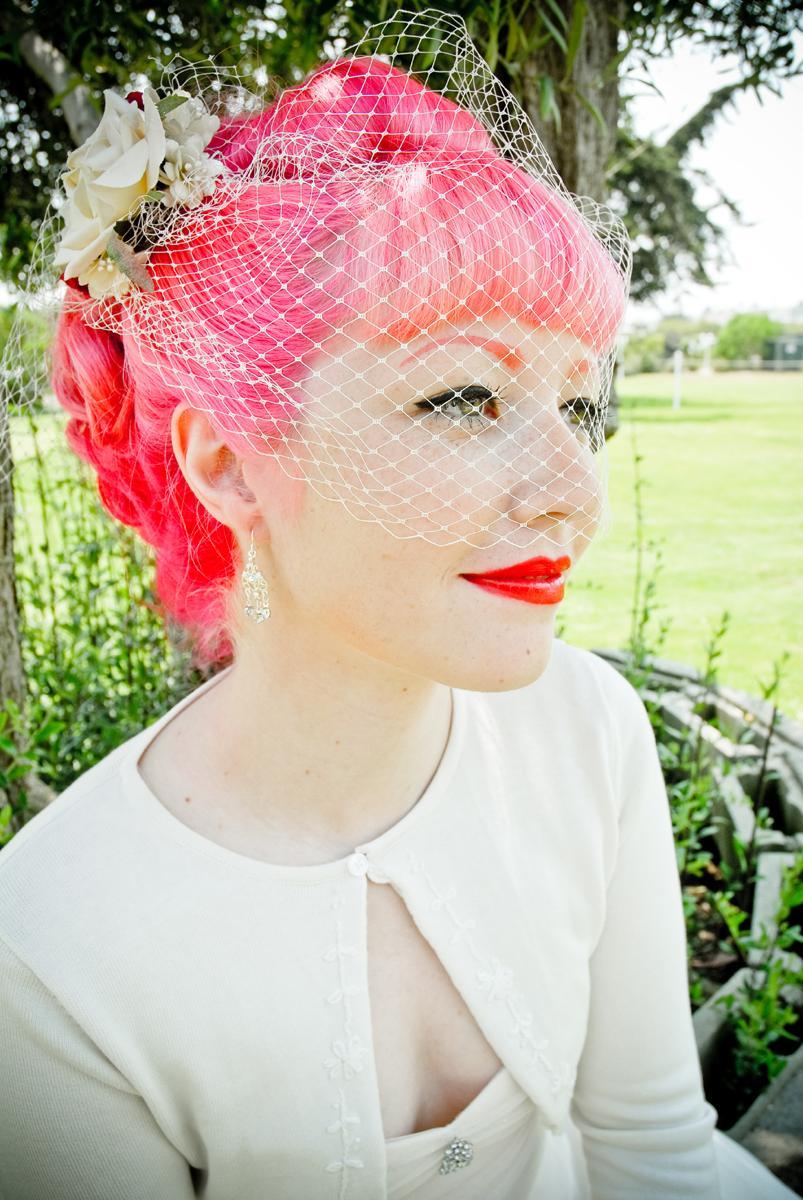 Pink Hair Wedding Veil. 20 Jan