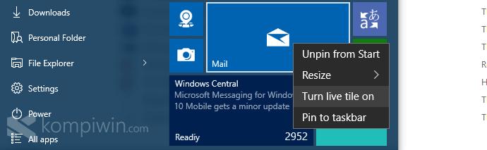 live tile mail