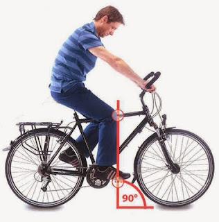 posición correcta rodilla pierna sillín bicicleta