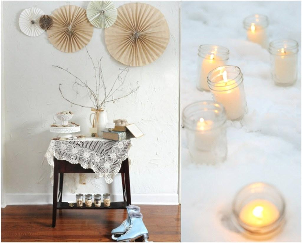 The wintry white color scheme