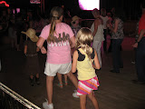 Lori and Hannah line dancing in the Wildhorse Saloon in Nashville TN 09032011a