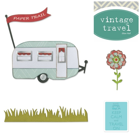 Vintage Travel by Eileen Hull  - fustelle Sizzix