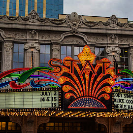 THE LIGHTED CANOPY by Michael Rey - Buildings & Architecture Other Exteriors ( sign, marquee, minneapolis, theaters, downtown district, architecture, entertainment,  )
