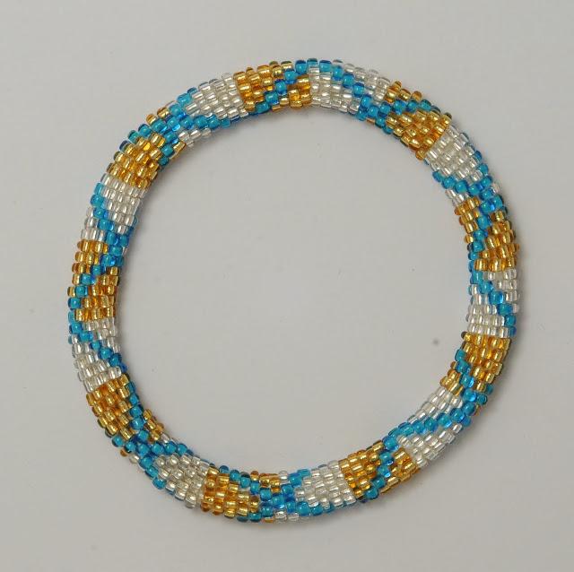 golden white bracelets