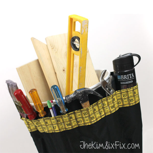 Organize tools in a bucket