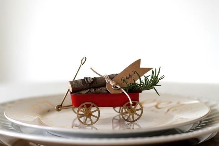 Vintage Wagon & Log Place Cards by homework (carolynshomework (1)