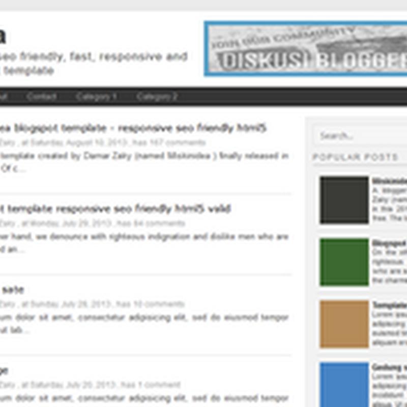 Miskinidea Template Blogger Yang Ads Ready dan Responsive