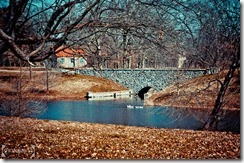 Stone bridge with ducks Carondelet Park St. Louis MO