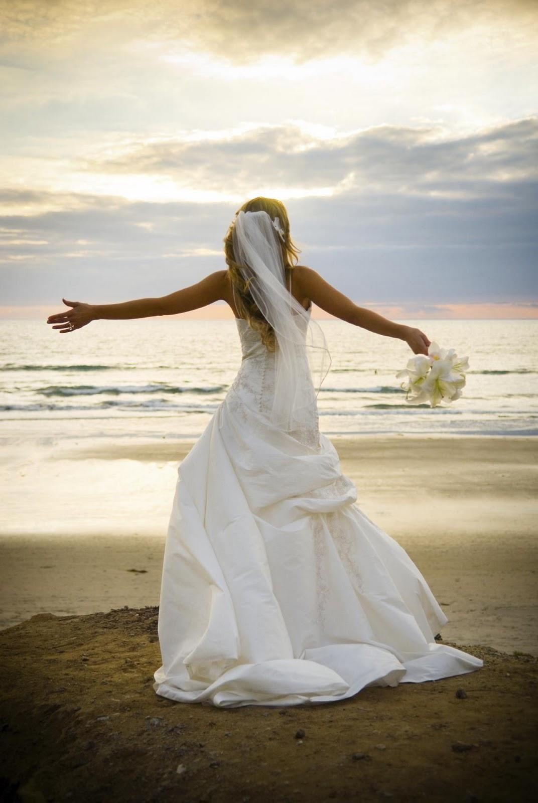 Bride, beach wedding, wedding,
