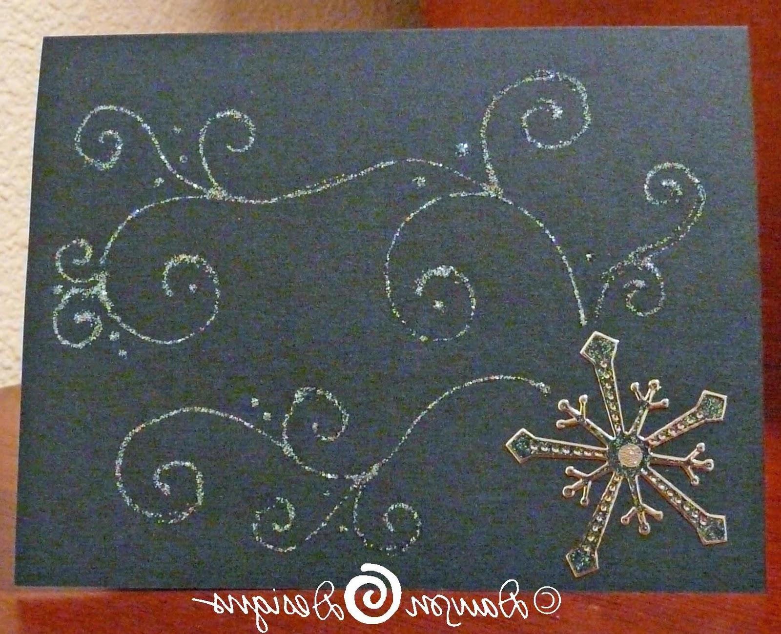 Falling Snowflake Card