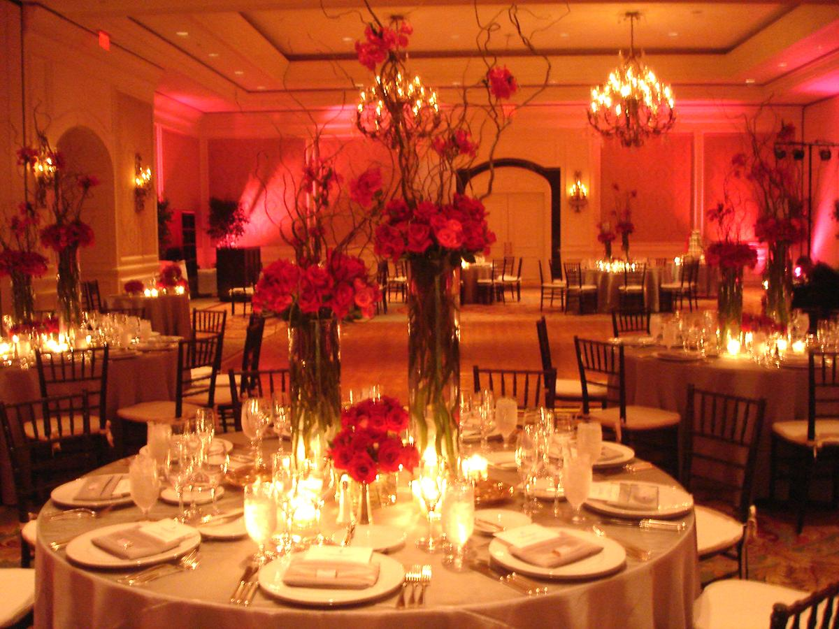pink and orange wedding