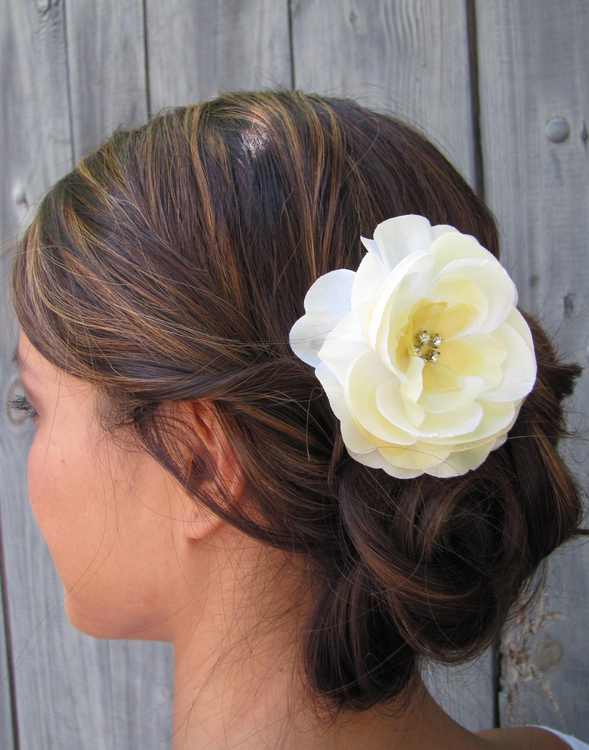 Pale Yellow Silk Rose Bridal