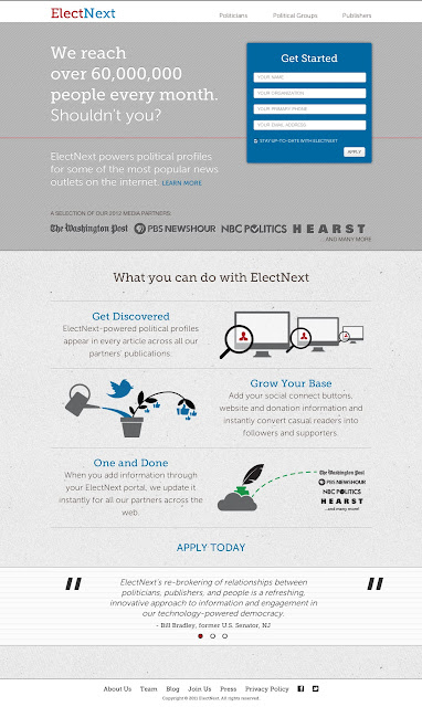 The new ElectNext site