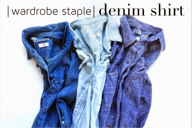 denim shirt wardrobe must have