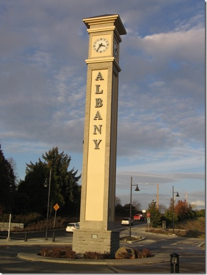IMG_9509 Clock Tower at Depot in Albany, Oregon on December 4, 2007