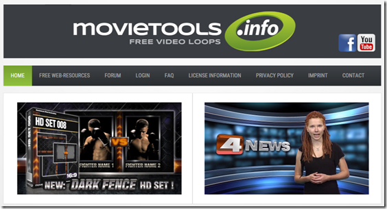 Movietools.info - Free Backgroundloops, Lower Thirds, Motion Objects and Tutorials