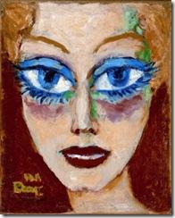 Mujer con Ojos Azules,1908
