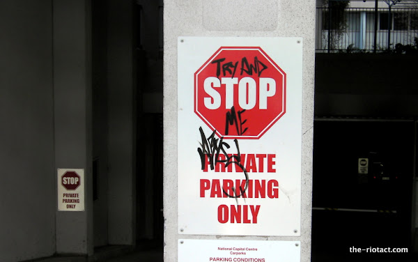graffiti stop sign