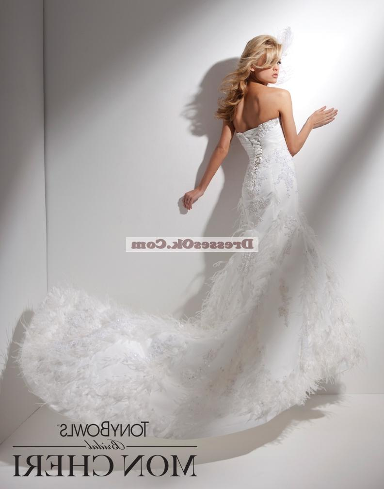 Brand New fashion mermaid strapless floor length wedding dress TONYW0202
