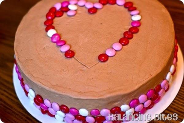 Stenciled Heart Cake - Balancing Bites