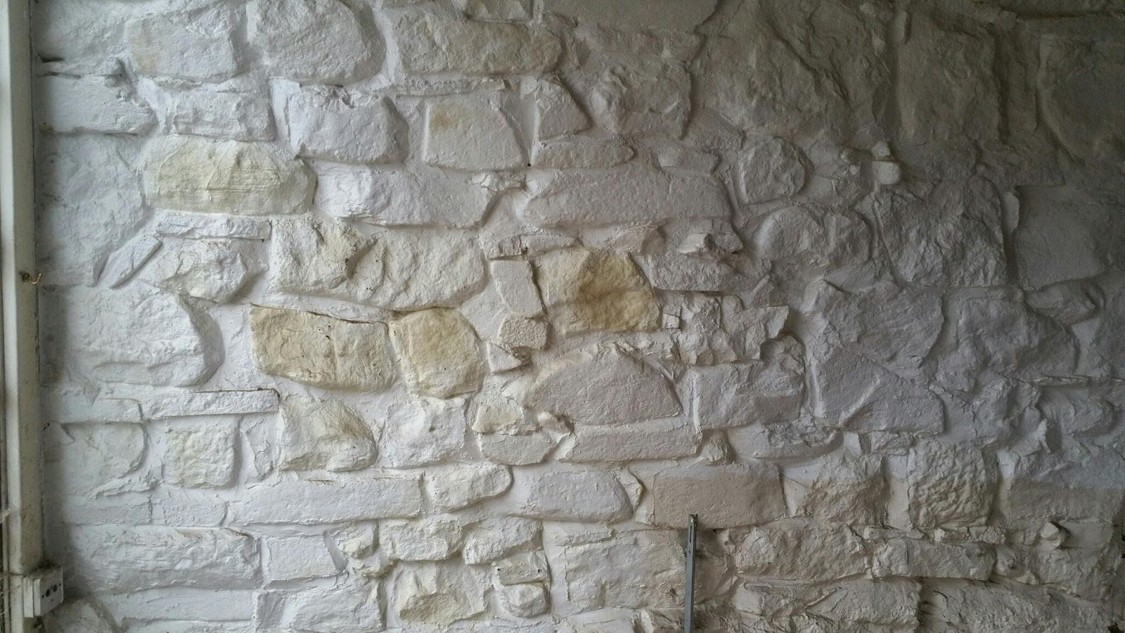 Renovating an old stone cottage sandblasting painted walls Paint of wall