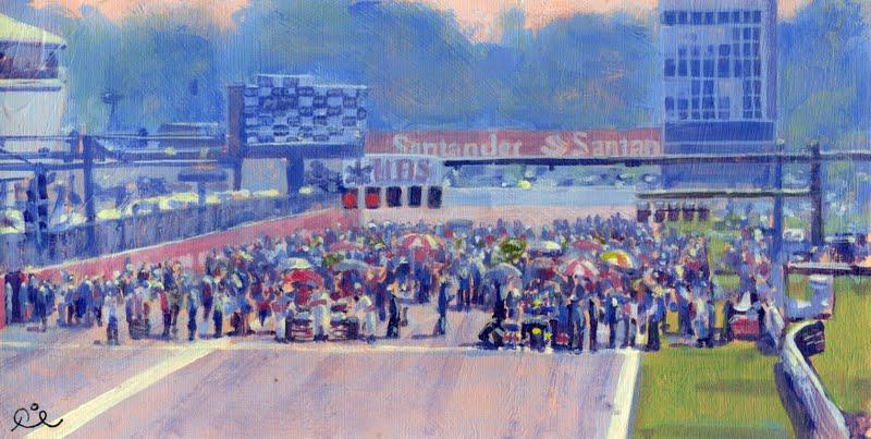 Стартовая решетка Гран-при Италии 2011 - картина Rob Ijbema