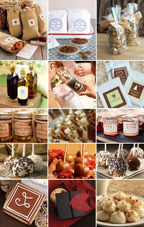 edible autumn wedding favors