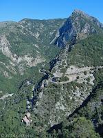 Westrampe auf den Col de Châteauneuf de Contes (628 m). Weiter über den Col St. Roch (990 m) zum Col de Turini (1607 m).