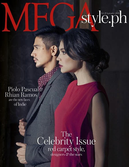 Piolo Pascual and Rhian Ramos for Mega Style.ph