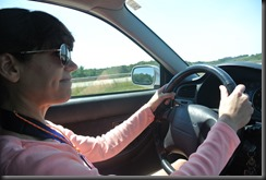 Cheryl drives