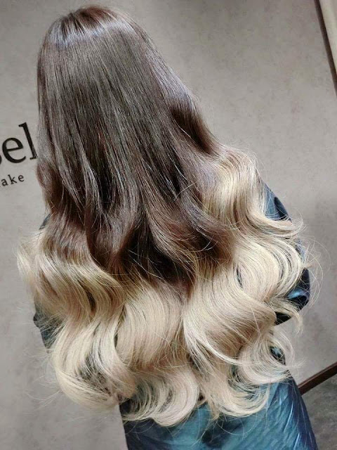 Pastel Hair Dye_ Dark Brown and White / Blond Hair