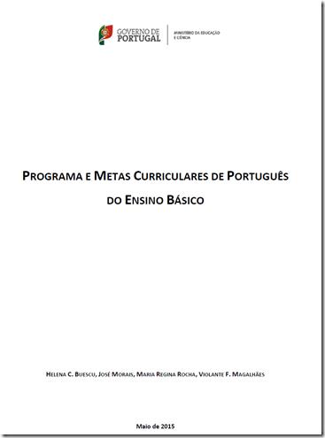 Resultado de imagem para programa e metas curriculares de português do ensino básico