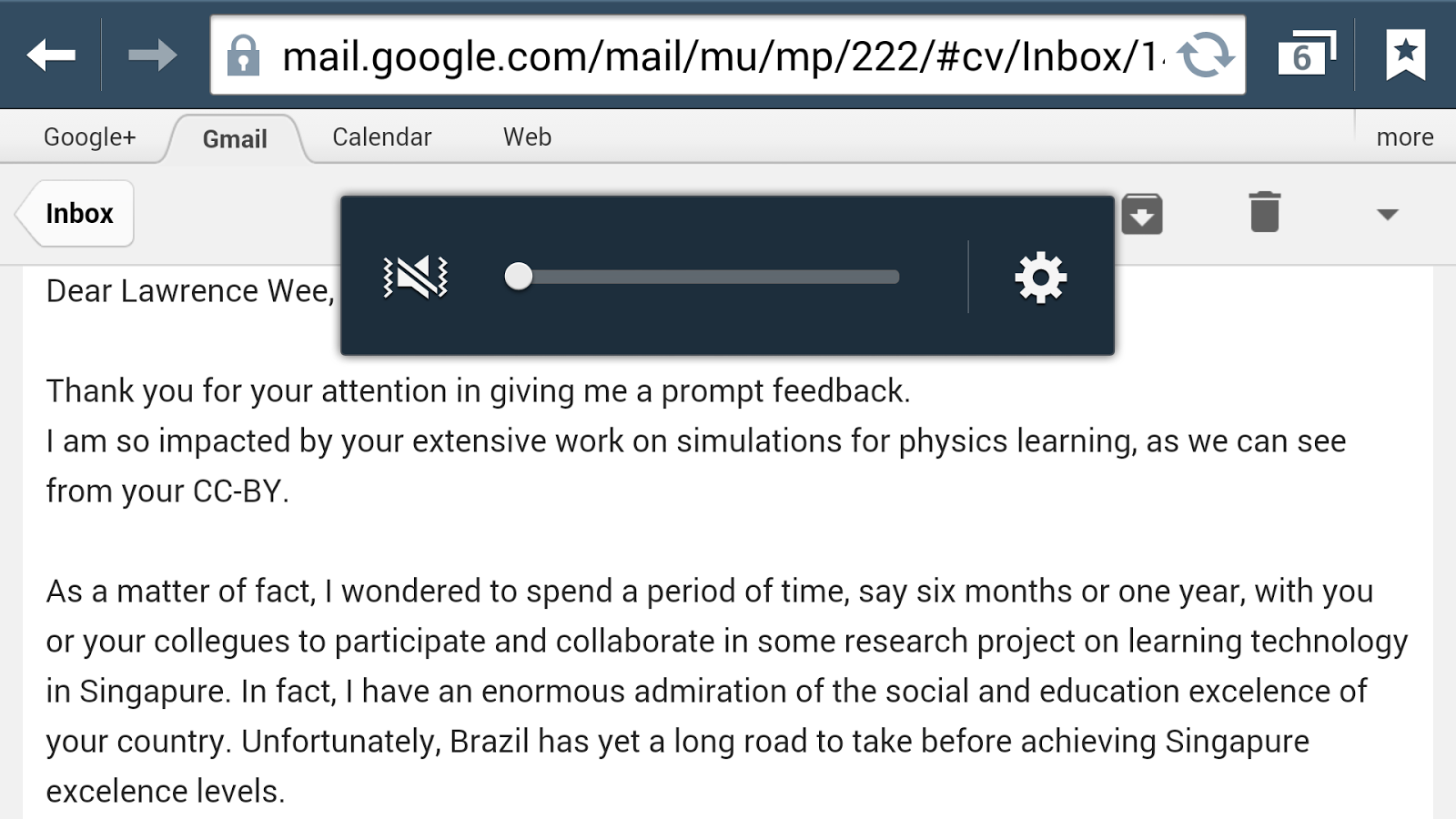 Greetings from brazil thank you open source physics singapore thanks to professor in brazil for the email for affirming my contribution to use of technology for physics education m4hsunfo