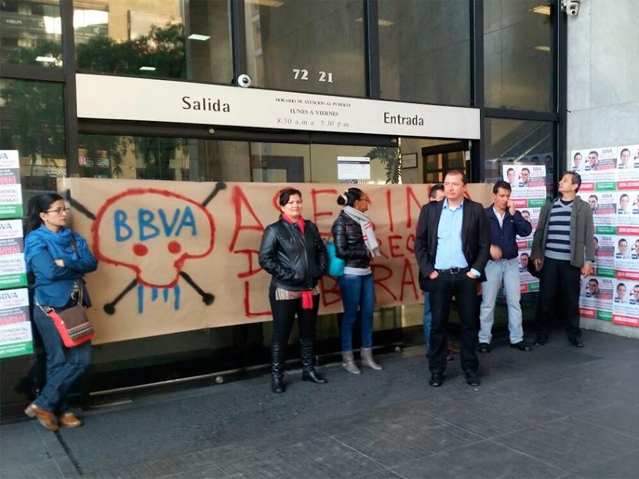 BBVA no presenta soluciones al pliego, negociaciones podrían terminar con paro (2)