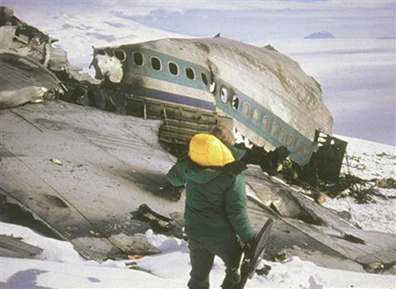 Wreckage of NZ-ZNP on Mt. Erebus