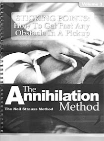 Cover of Neil Strauss's Book The Annihilation Method Sticking Points How To Get Past Any Obstacle In A Pickup