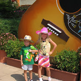 Hannah and Bryan at the entrance to the Grand Ole Opry in Nashville TN 09032011b
