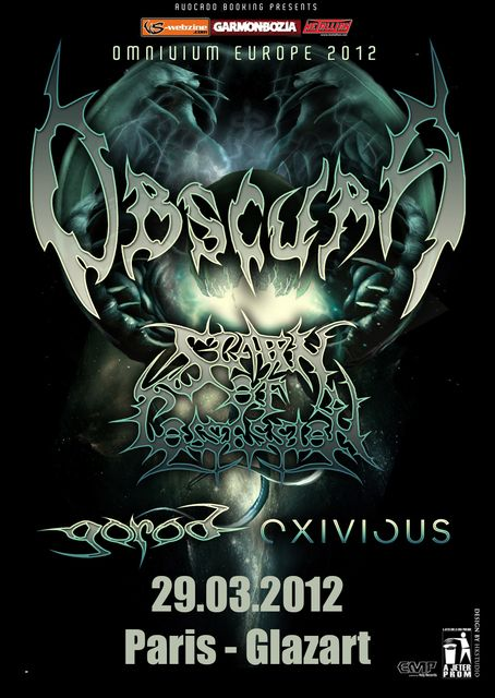 Obscura / Gorod / Spawn of Possession / Exivious @ Glaz'Art, Paris 29-03-2012