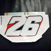 Pedrosa Number board sticker