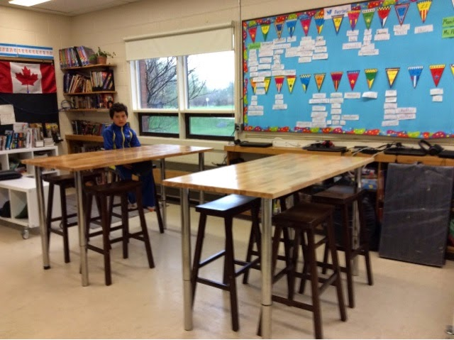 Manitoulin Teacher May - Standing height work table