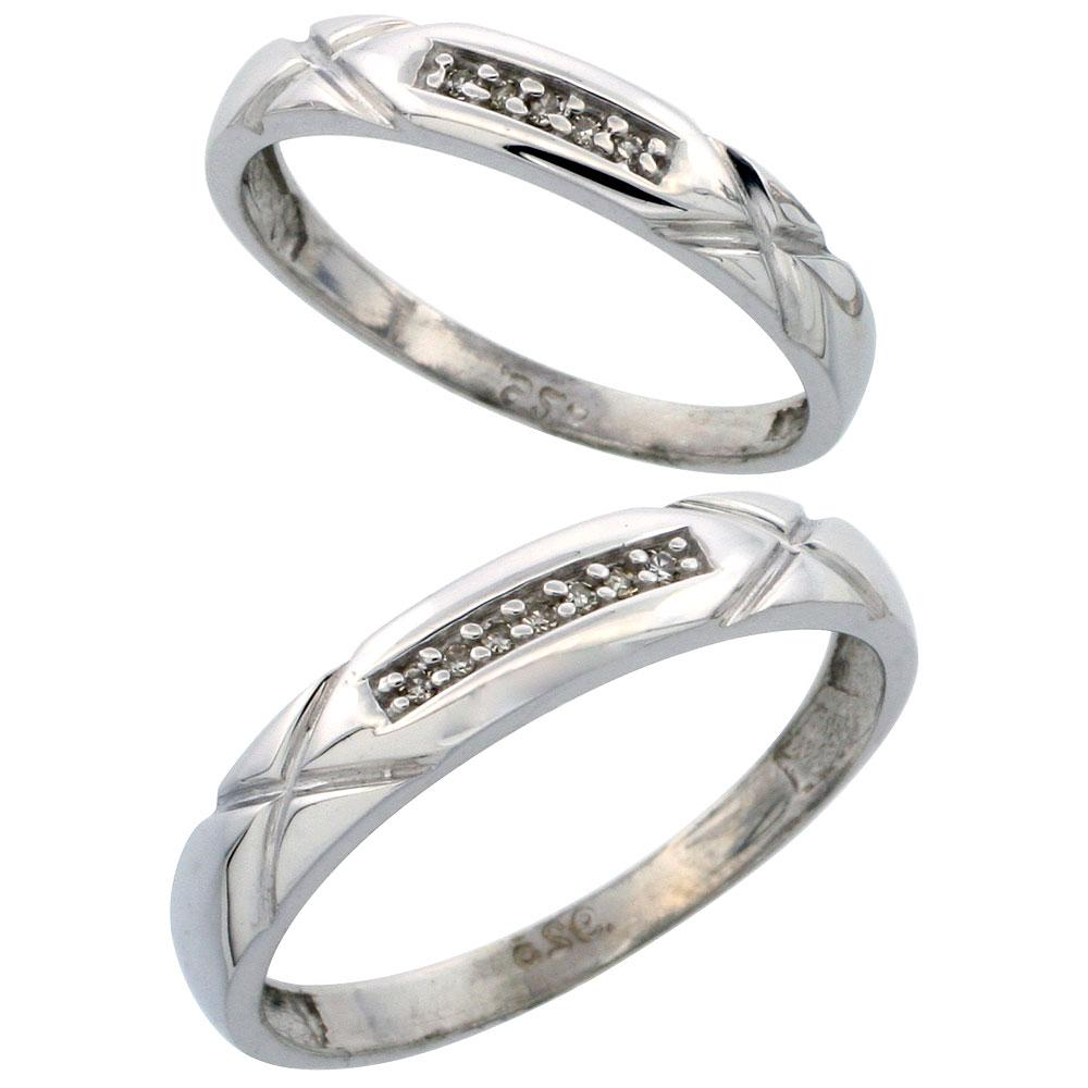 Diamond Wedding Band Set,