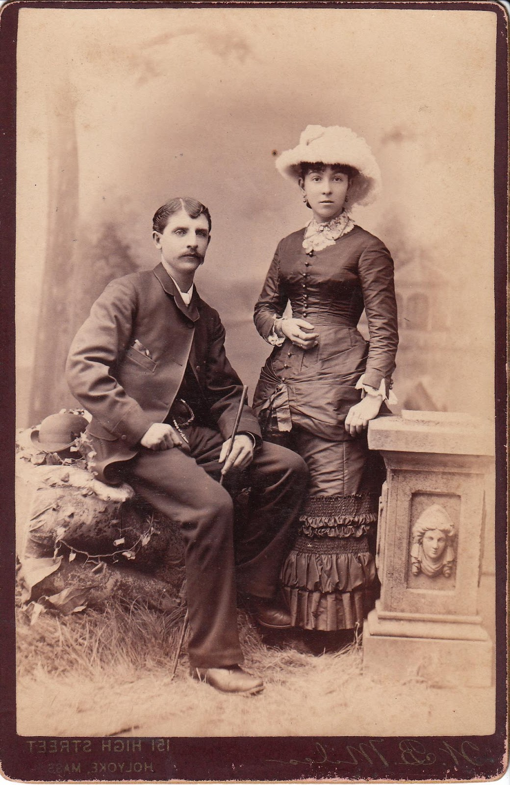 attractive couple posing