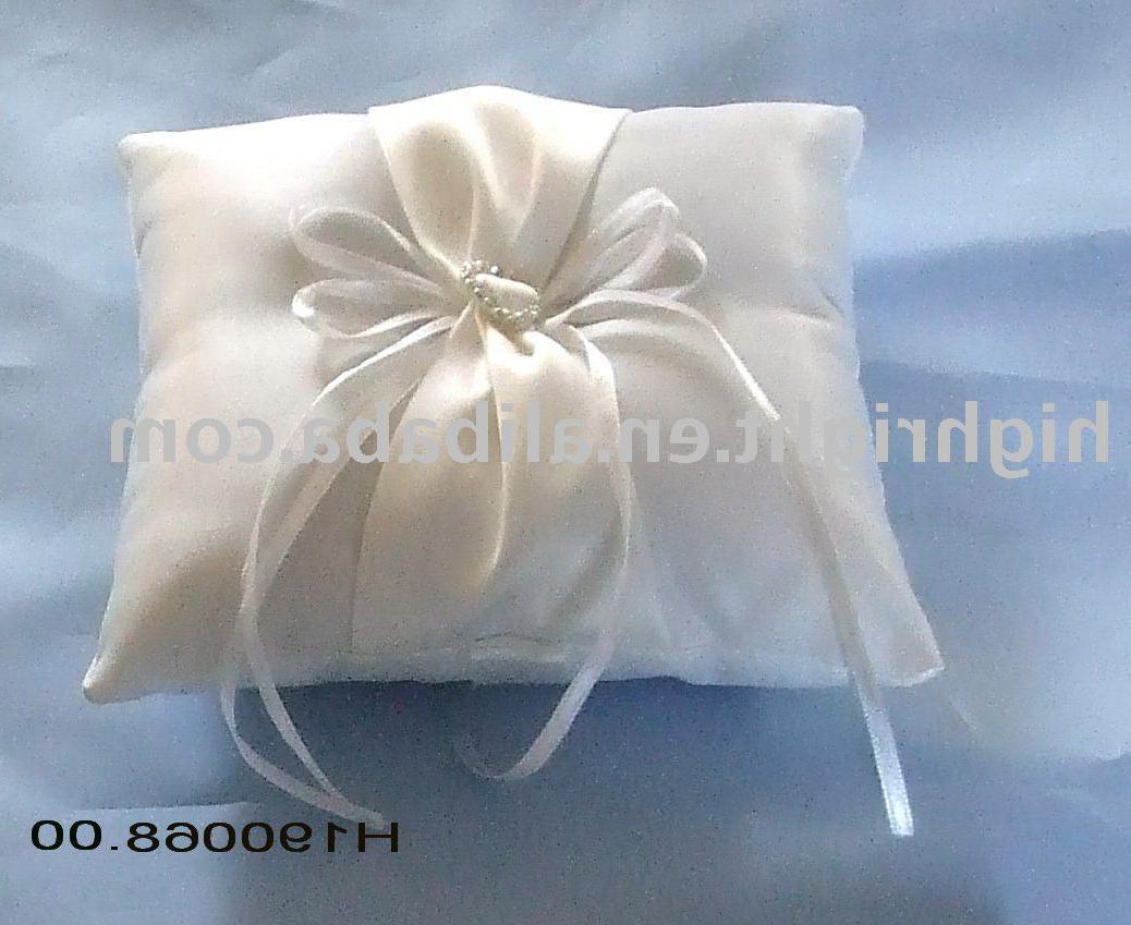 Wedding rings pillow; wedding
