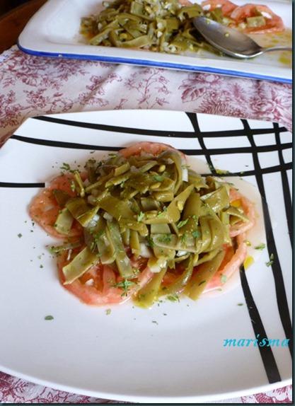 ensalada de judias verdes,racion copia