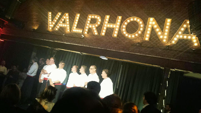 Valrhona chefs at party