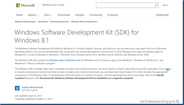 windows sdk 81 offline installer