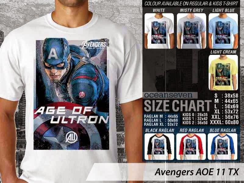 Jual Kaos Captain America superhero Avengers 11
