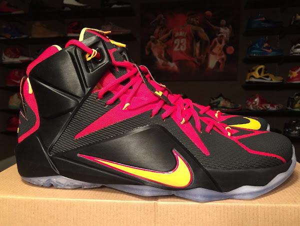 Closer Look at Nike LeBron 12 Fairfax Lions Away PE
